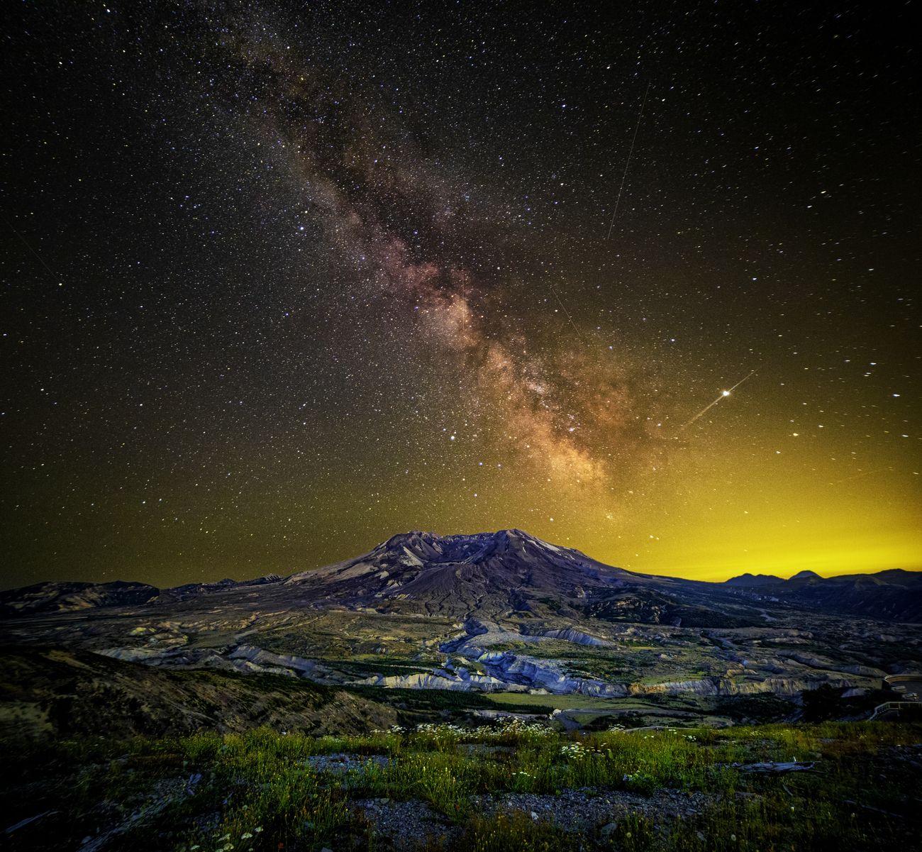 Mount St Helens in July