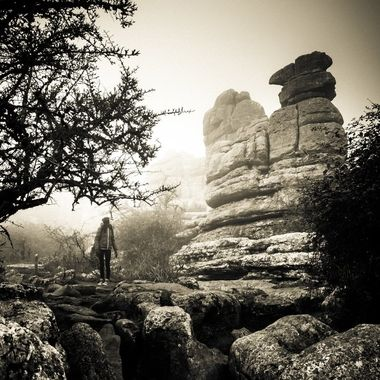 an amazing landscape of weathered stone shaped fascinating formations found in Torcal, Malaga