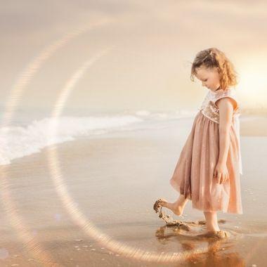 Enjoying childhood trips to the beach.