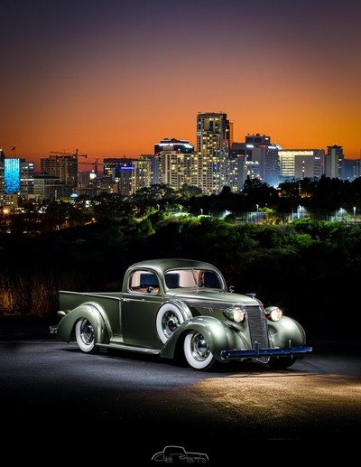 Stud City, '37 Studebaker San Diego City.