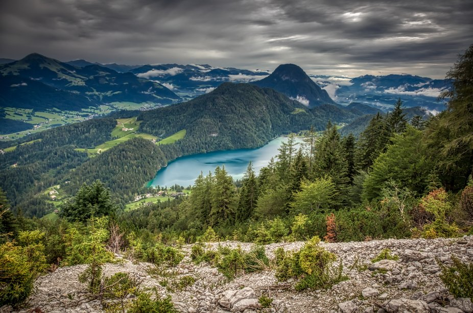 In the midst of the Wilder Kaiser nature conservation area, some four kilometres above the town o...