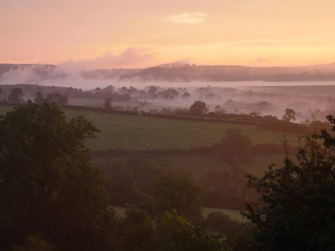 Derbyshire sunrise over Carsington Water