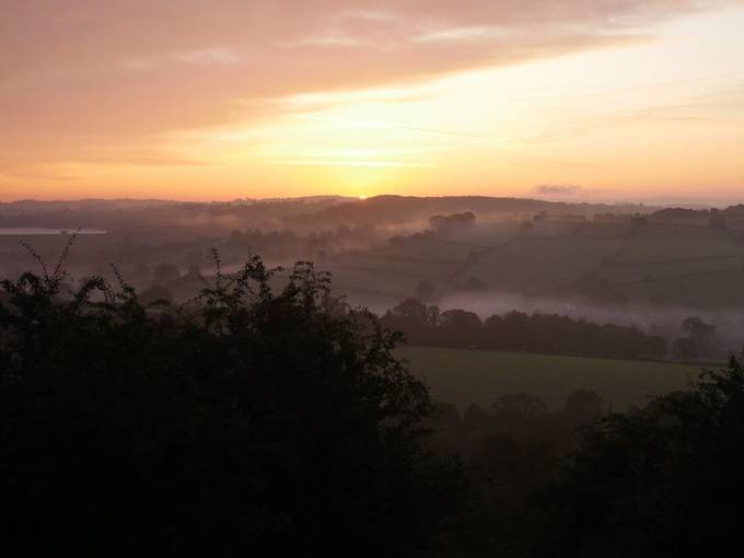 Sunrise over Derbyshire