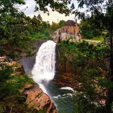 Waterfall at Ausable Chasm in New York