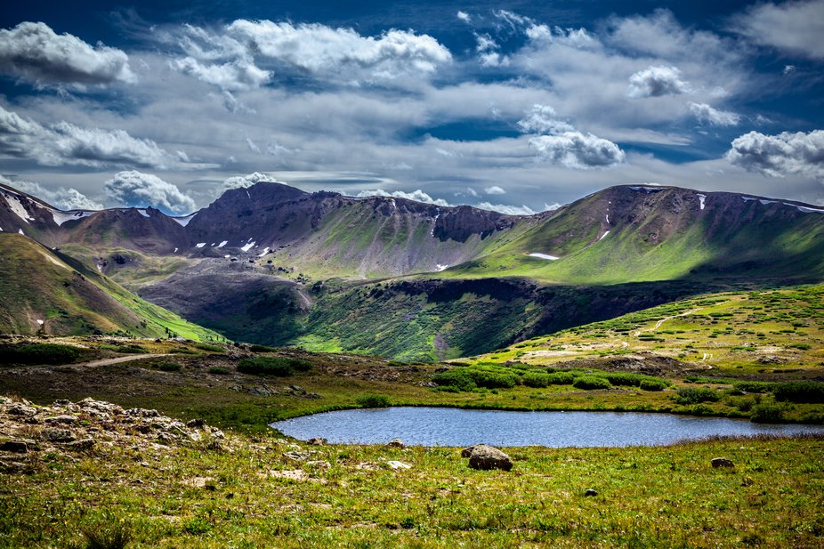 Small Pond At Independence Pass