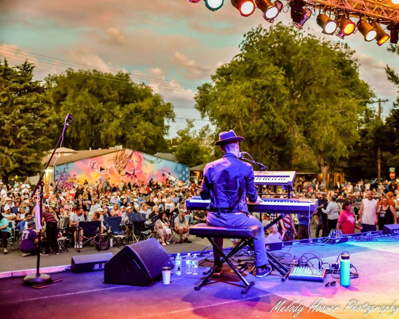 The Novelist played to a large crowd at the Brewery Arts Center in Carson City NV for the Levitt AMP summer series.