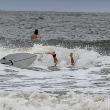 Surfers on Folly
