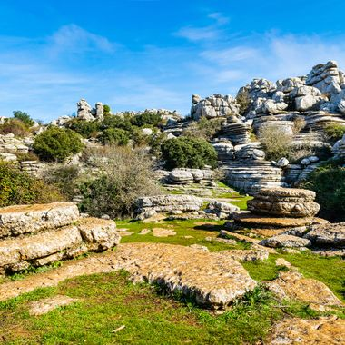 a great view from one of the valley floors found at Torcal in Antequera