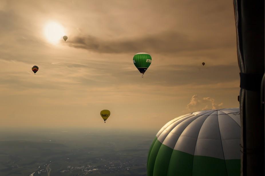 Bei einer Ballonfahrt aufgenommen