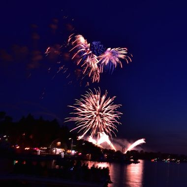 Canada Day fireworks from the port of Ranier on U.S. side