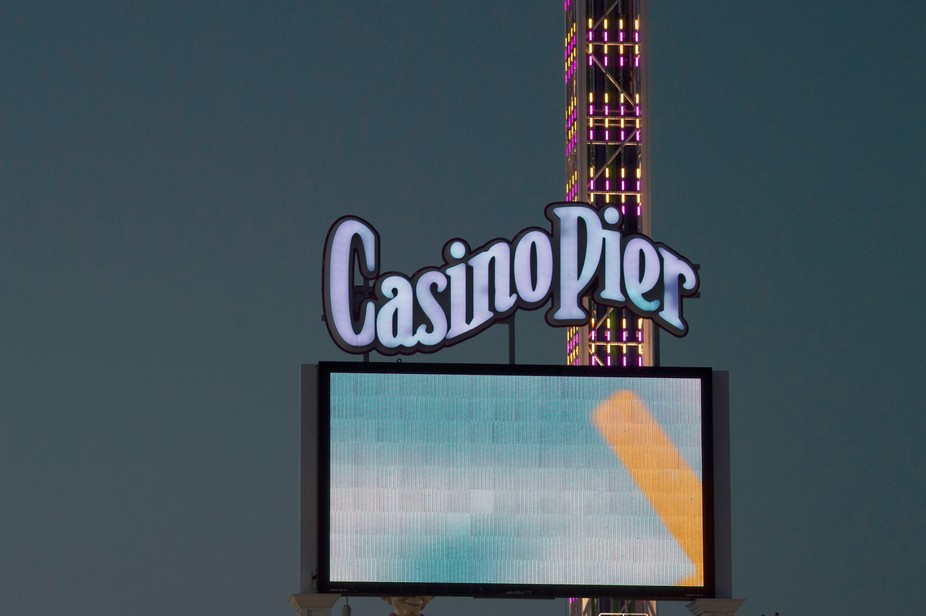 Casino Pier Electronic Display at Seaside Height