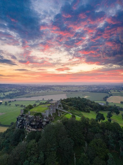 Beeston Castle at sunrise