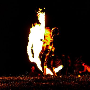 I was watching the fire performers manipulate the flame