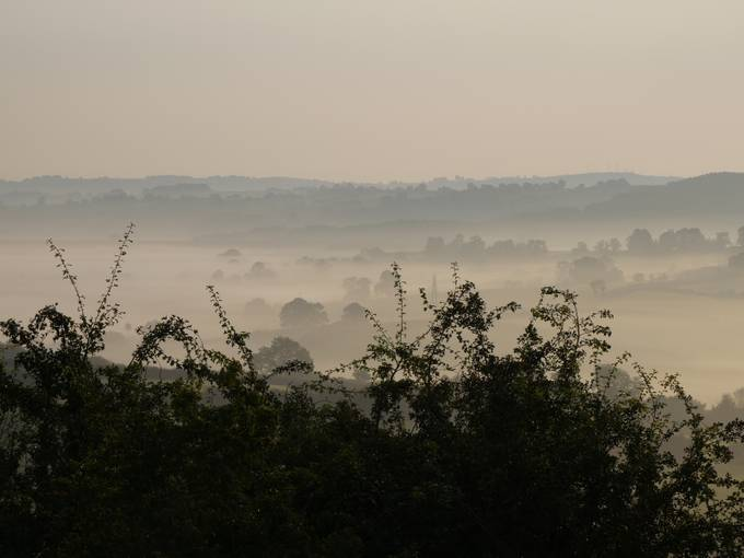 Temperature inversion, Derbyshire, England