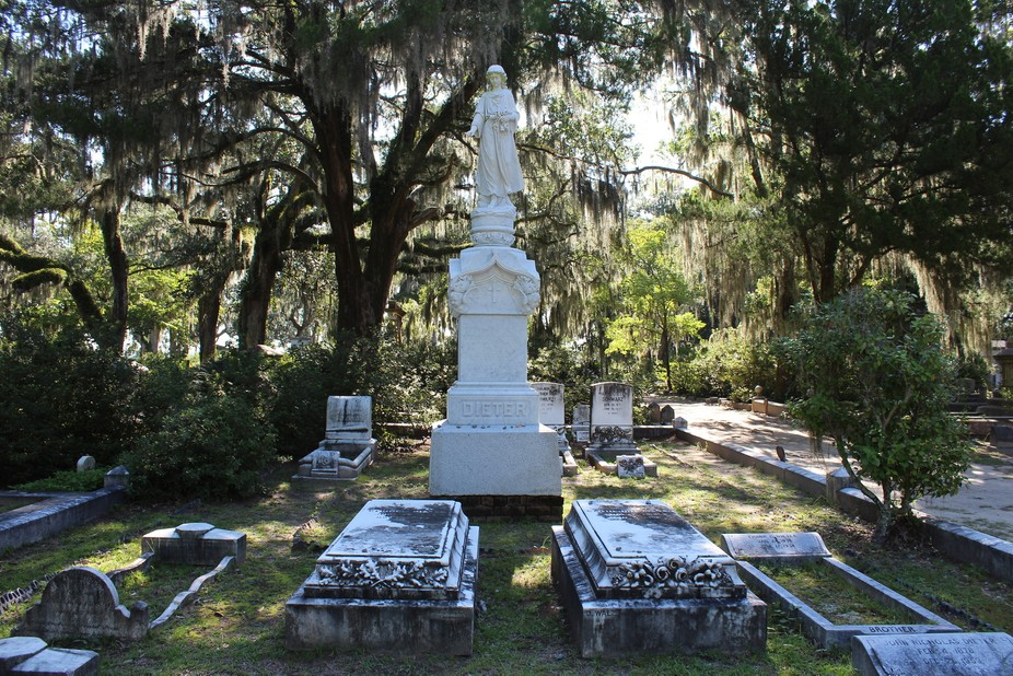 Walking through the Bonaventure Cemetery in Savannah, GA took me through many gorgeous plots, but this photo stood out.