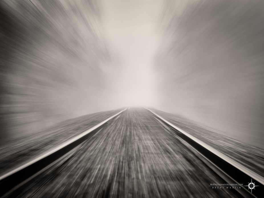 Zooming down the rails, into the light. Where will you land?