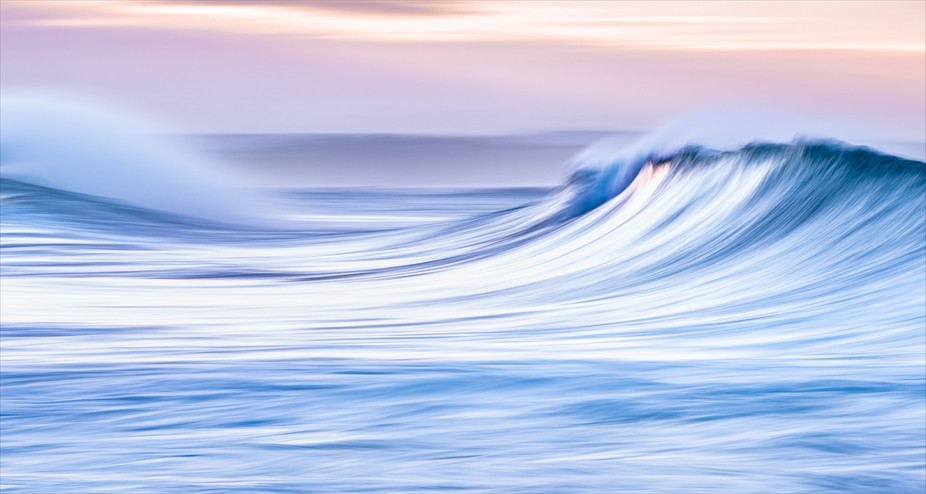 Wave motion at dawn, Victoria Bay, South Africa