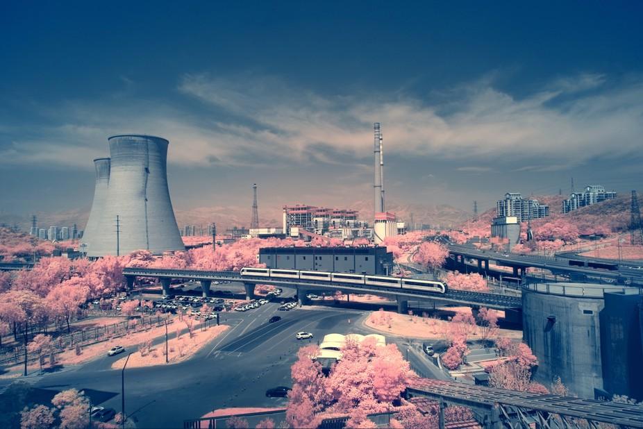 Shougan Park. Beijing. IR 680 nm. Postprocessing. Options.