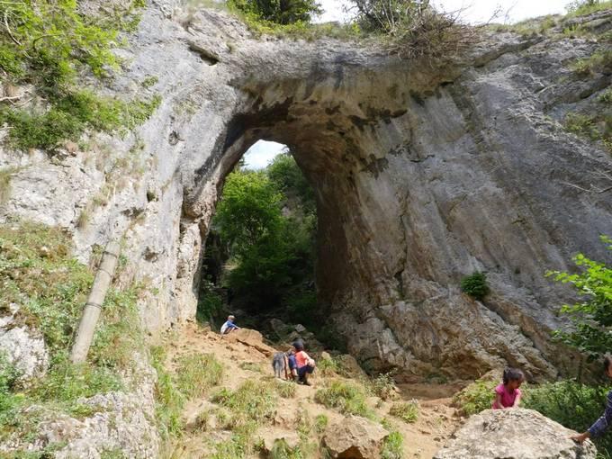 Limestone arch, created by erosion.
