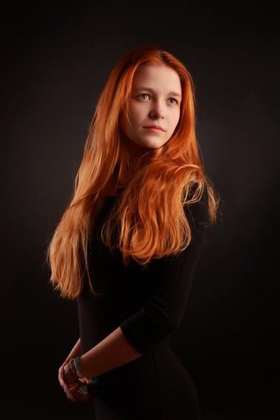 Portrait with warm light