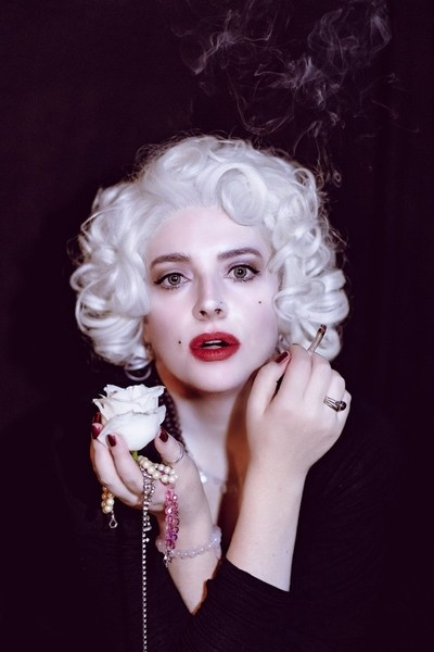 Roses and pearls...????????(a self portrait)