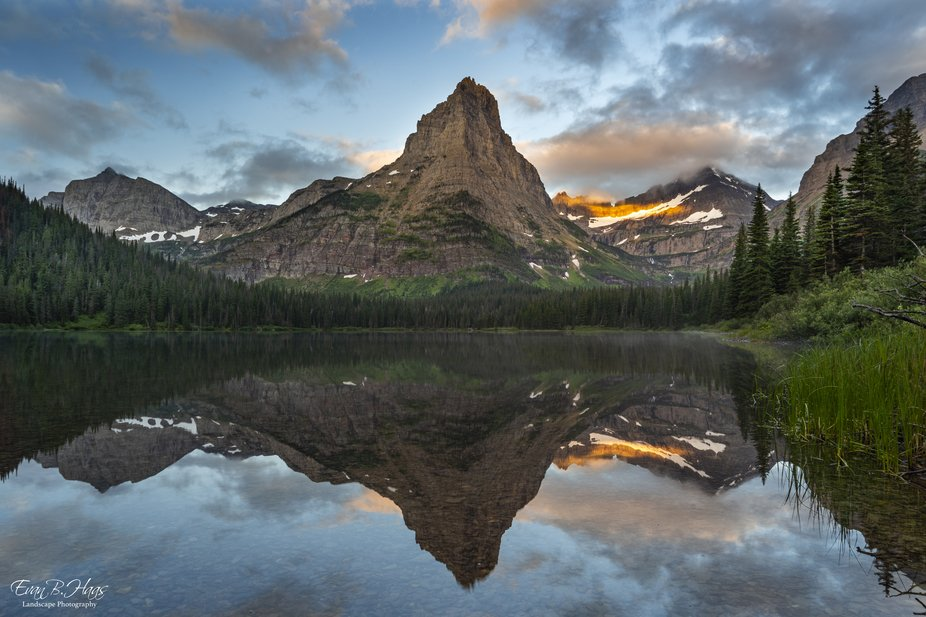 Beautiful sunrise in the Belly River area of Glacier National Park.