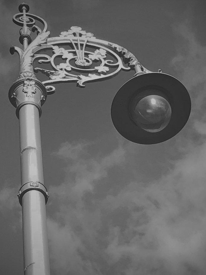 street light in Dublin Ireland