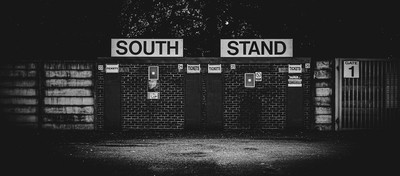 The turnstiles at Bury Football Club. Expelled from the English Football League for money problems