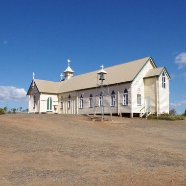 Old Restored Catholic Church In gold mining of Ravenswood
