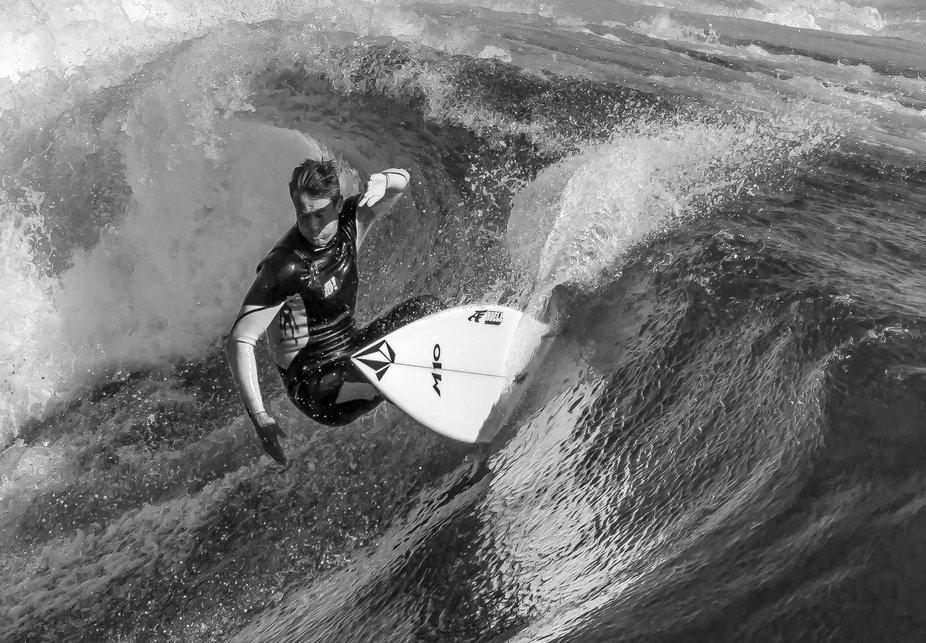 B/W Surfer