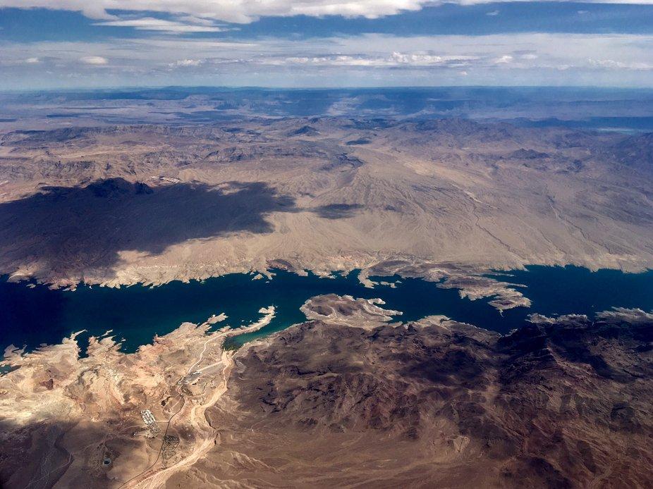 taken on a Southwest flight approaching Las Vegas, Nevada