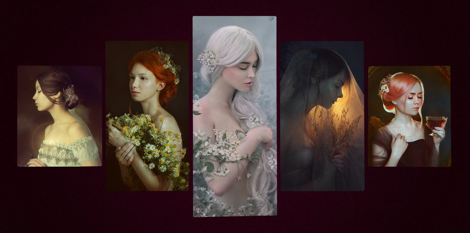 my dear girls (the most favorite of my works)
