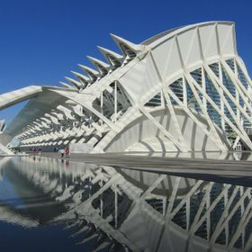 The principle building of Calatrava's controversial City of Arts and Science, in Valencia. This building, The Prince Philip Science Museum, ...