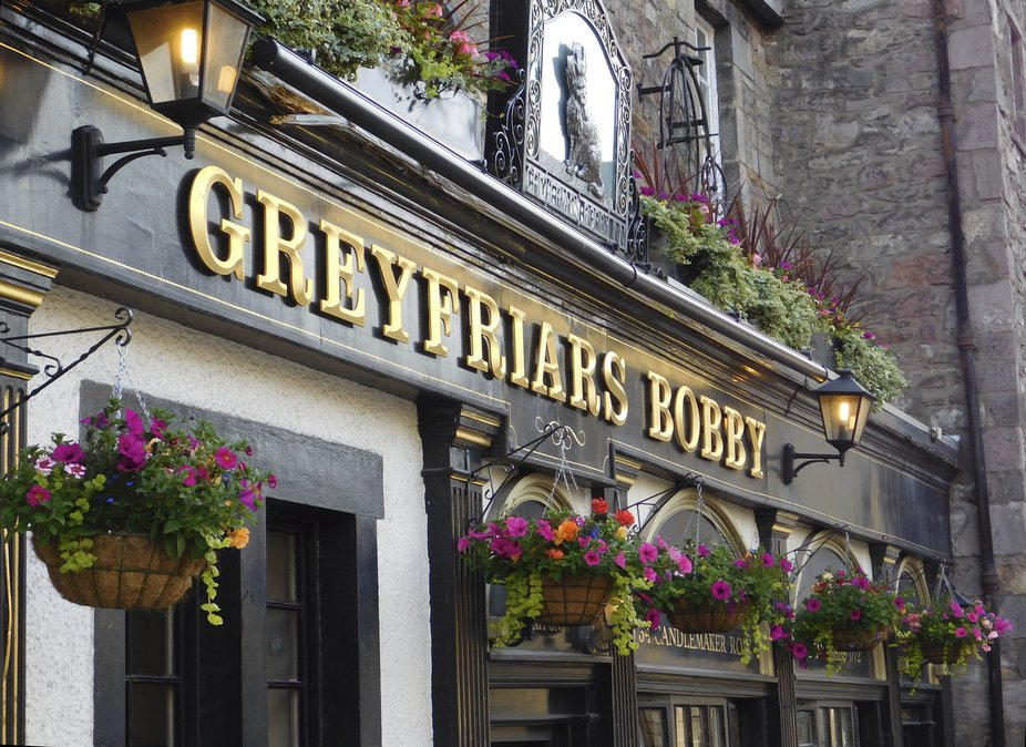 A historic Edinburg pub, named for the small canine who slept on the pub owner's grave f...