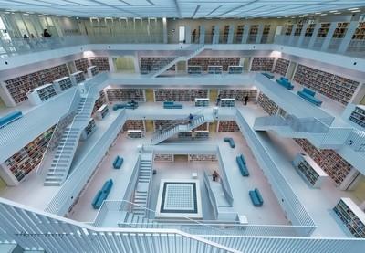 Impresionante biblioteca con un total de 11 plantas