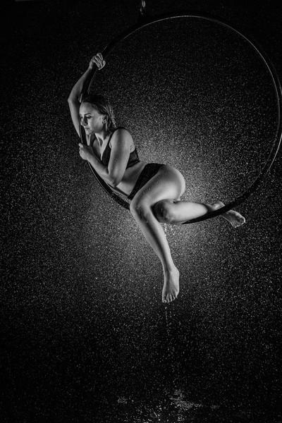 On a hoop in the rain 2