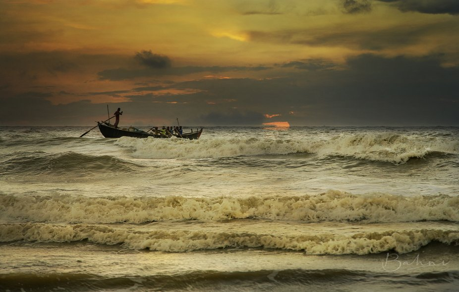 Evening from Bay Of Bengal