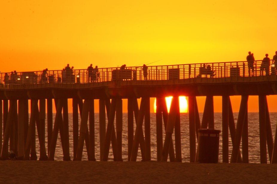 Sunset at Hermosa Beach Pier, Ca. - 09/18/2019
