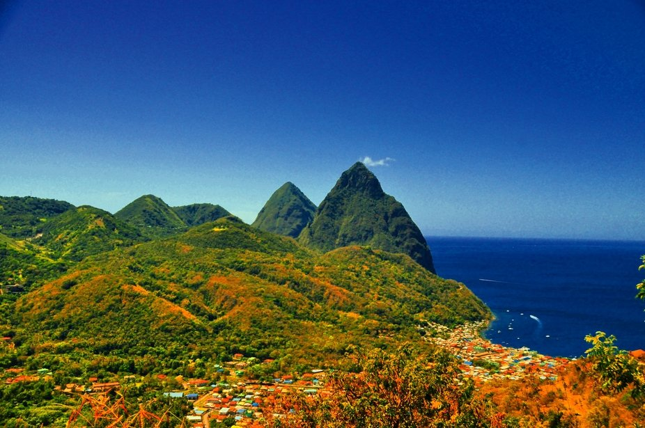 Two Pitons St. Lucia
