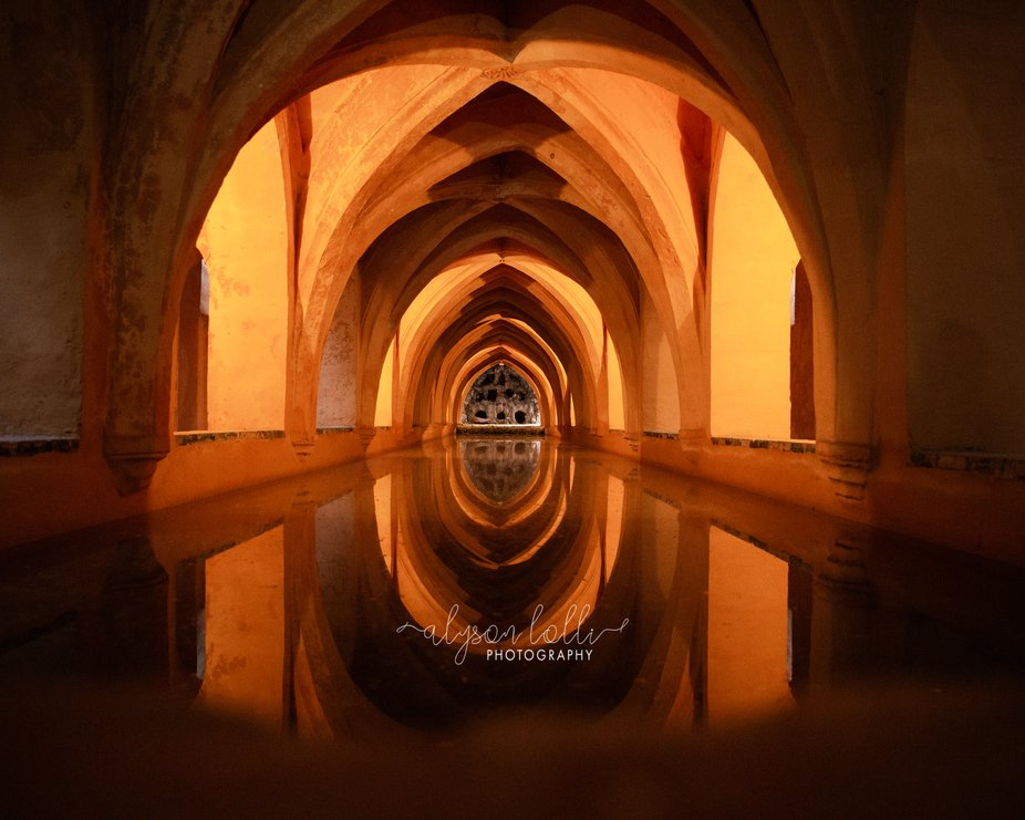 Centuries old, underground spring that supplied the drinking water for the Alcázar de Sevilla.  ...