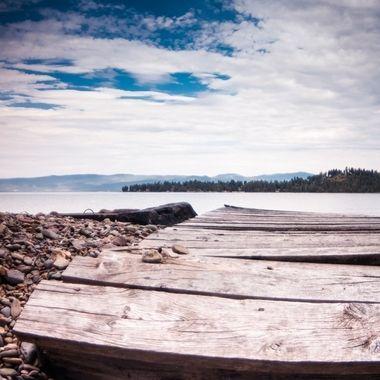 Dock at Flathead Lake, MT.