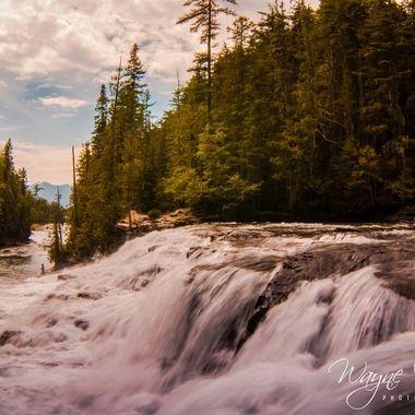Mcdonald Falls, Glacier National Park, Mt.  Gods country.