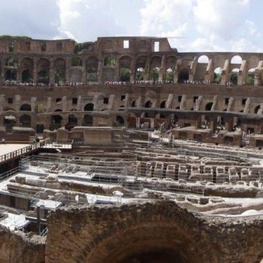 Panoramica del Coliseo romano