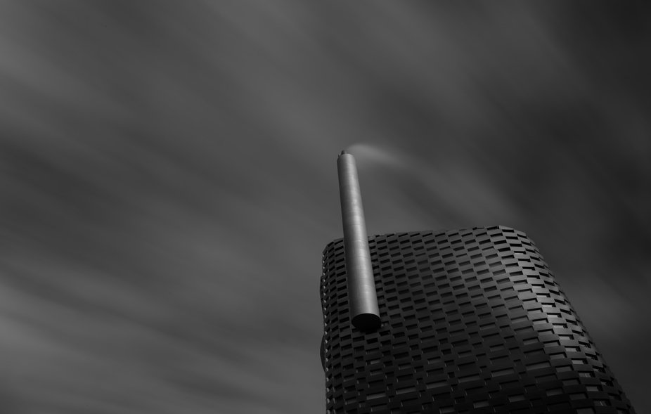 Copenhill, Island of Amager in Copenhagen, Denmark.   The incinerator facility is designed by the...
