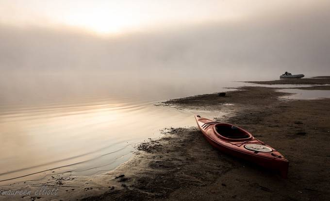 Kayak On Beach by maureenelliott - Creative Landscapes Photo Contest vol6