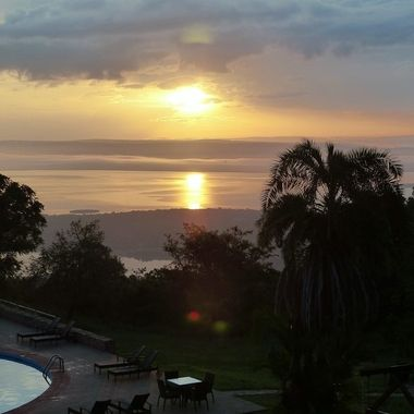 Sunrise taken from Akagera Game Lodge in Rwanda