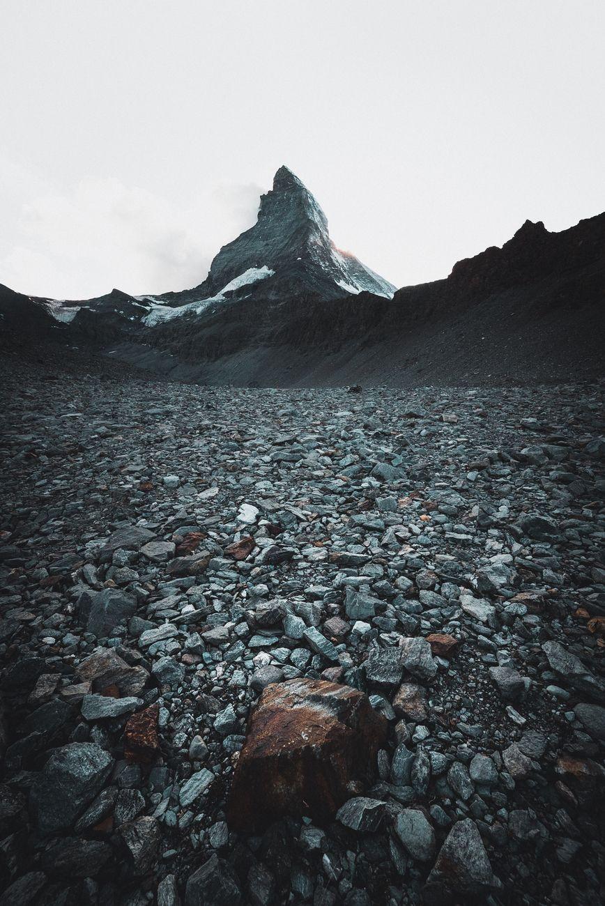 Rusty Matterhorn rock