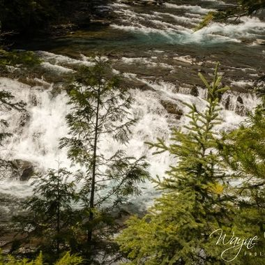Mcdonald Falls in Glacier National Park, Montana.