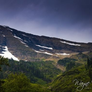 One of the mountain ranges in Glacier National Park, Montana.