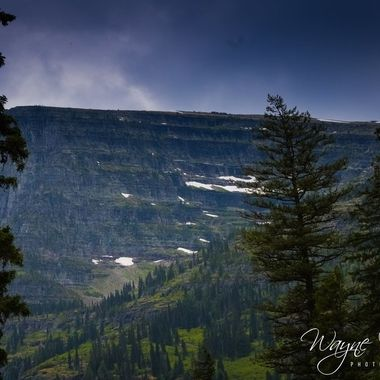 One of the many mountains in Glacier National Park, Montana